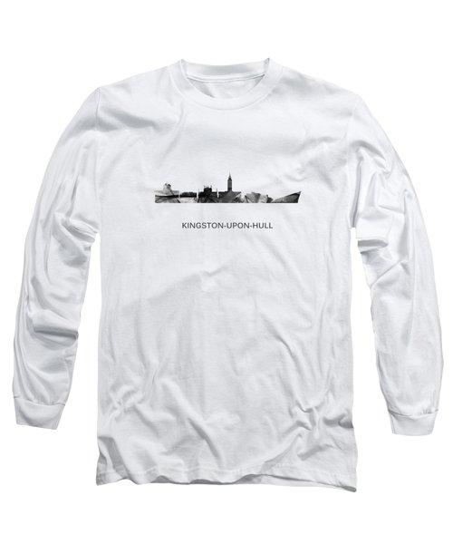 Kingston Upon Hull England Skyline Long Sleeve T-Shirt