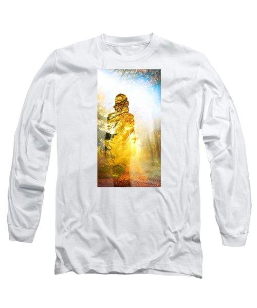 Lady Autumn Long Sleeve T-Shirt by Lilia D