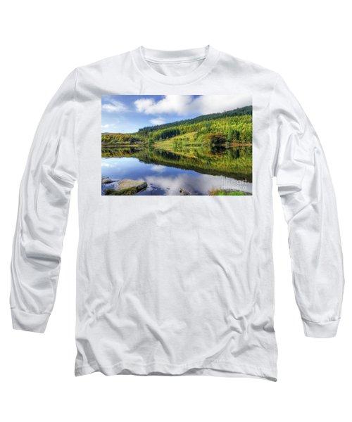 Lake Geirionydd Long Sleeve T-Shirt by Ian Mitchell