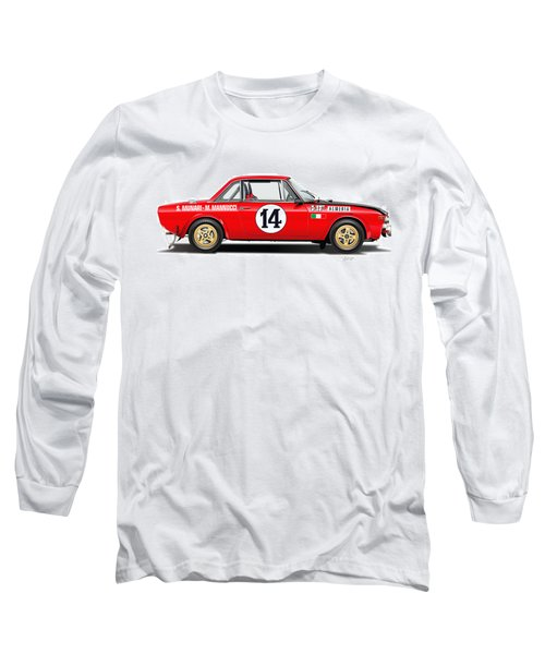 Lancia Fulvia Hf Illustration Long Sleeve T-Shirt