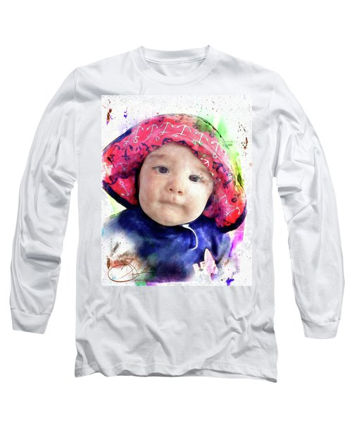 Long Sleeve T-Shirt featuring the painting Landon by Robert Smith