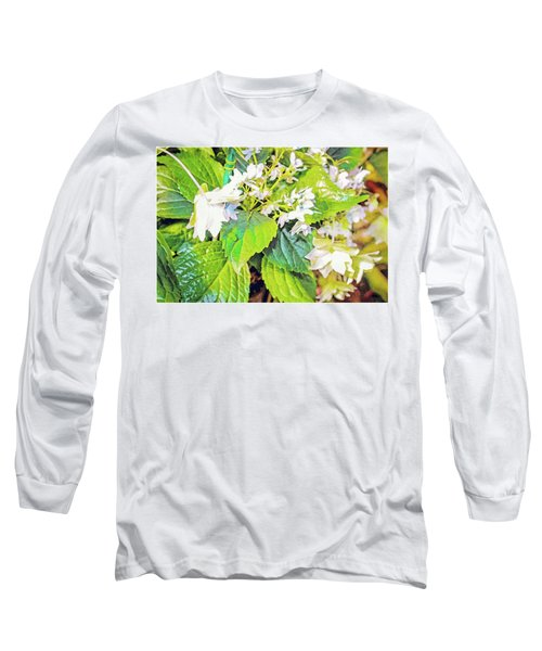 Long Sleeve T-Shirt featuring the photograph Little Orchids by Mindy Newman