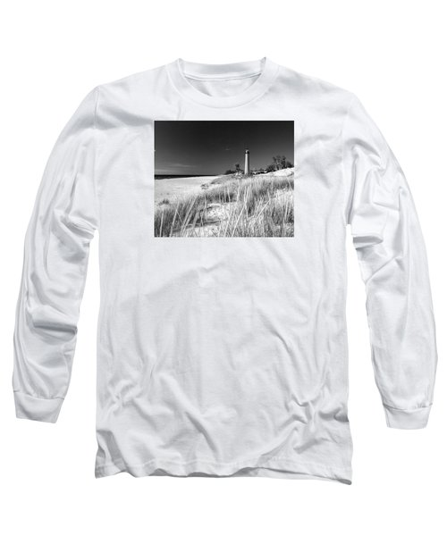 Little Sable Light Station - Film Scan Long Sleeve T-Shirt by Larry Carr