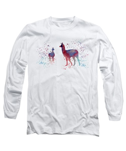Llamas Long Sleeve T-Shirt by Mordax Furittus