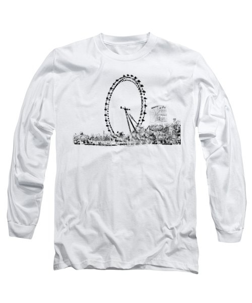 London Eye Long Sleeve T-Shirt by ISAW Gallery