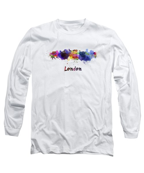 London Skyline In Watercolor Long Sleeve T-Shirt