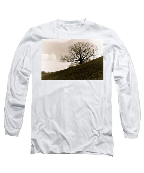 Lonely Tree Long Sleeve T-Shirt by Sergey Simanovsky