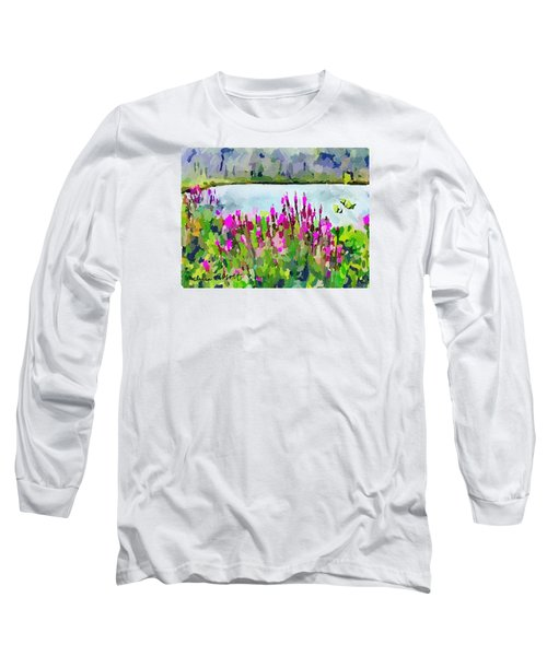 Loosestrife Blooming At Sleepy Hollow Pond Long Sleeve T-Shirt