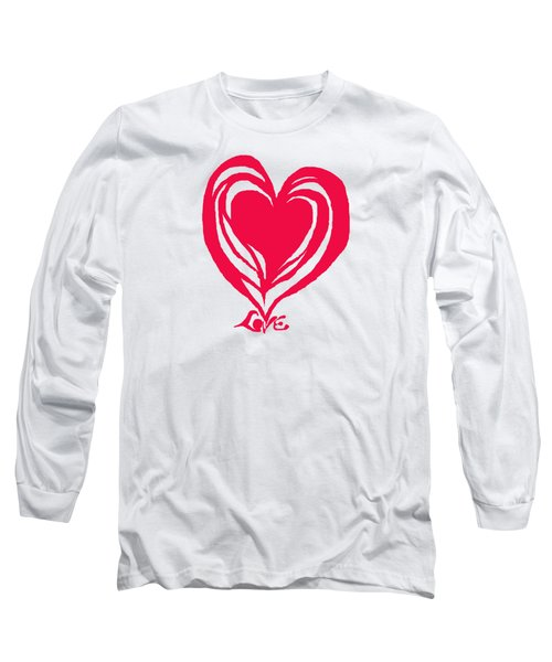Love In Red Long Sleeve T-Shirt by Mary Armstrong