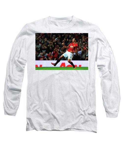 Manchester United's Zlatan Ibrahimovic Celebrates Long Sleeve T-Shirt