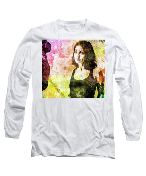 Maria Valverde Long Sleeve T-Shirt by Svelby Art