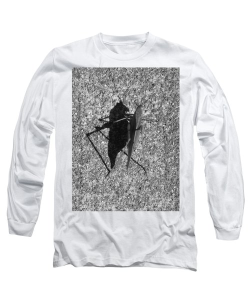 Me And My Shadow Black And White Long Sleeve T-Shirt