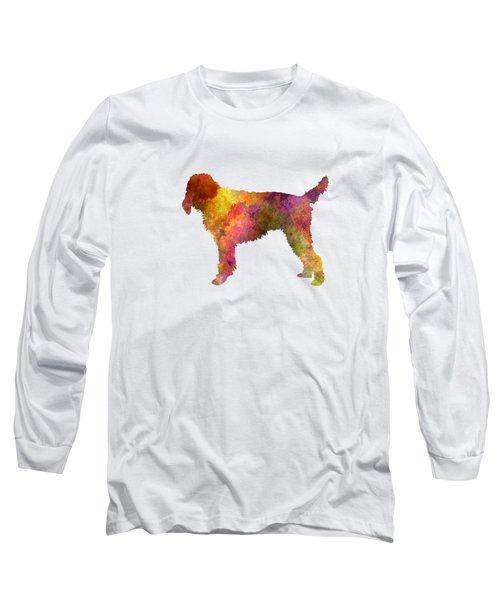 Medium Griffon Vendeen In Watercolor Long Sleeve T-Shirt by Pablo Romero