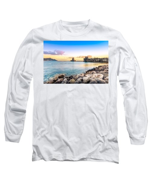 Methoni's Castle / Greece. Long Sleeve T-Shirt by Stavros Argyropoulos