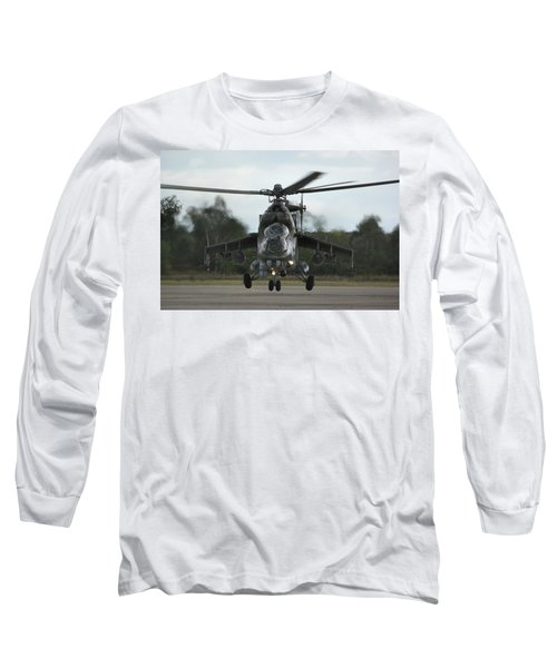 Long Sleeve T-Shirt featuring the photograph Mil Mi-24v Hind E by Tim Beach