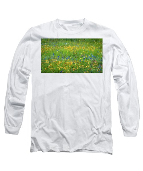 Mixed Wildflowers In Texas 538 Long Sleeve T-Shirt