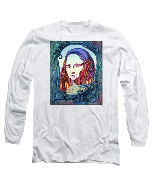 Mona Lisa. Fire Long Sleeve T-Shirt