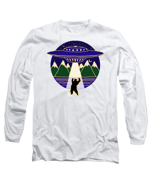 Mothership Takes Bear Long Sleeve T-Shirt by Holly Douglas