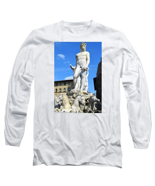 Neptune Fountain Florence Long Sleeve T-Shirt by Lisa Boyd