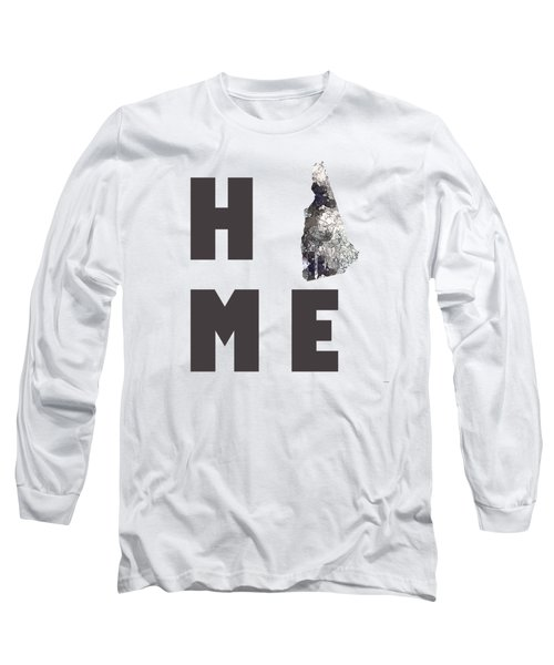 Long Sleeve T-Shirt featuring the digital art New Hampshire State Map by Marlene Watson