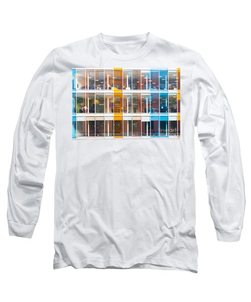 Office Windows Long Sleeve T-Shirt by Colin Rayner