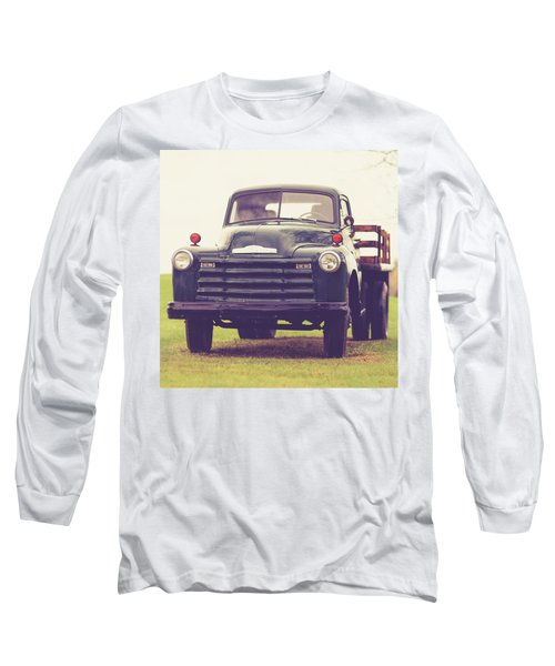 Old Chevy Farm Truck In Vermont Square Long Sleeve T-Shirt