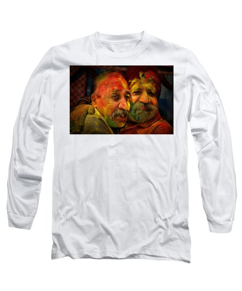 Long Sleeve T-Shirt featuring the digital art Old Friends by Bliss Of Art