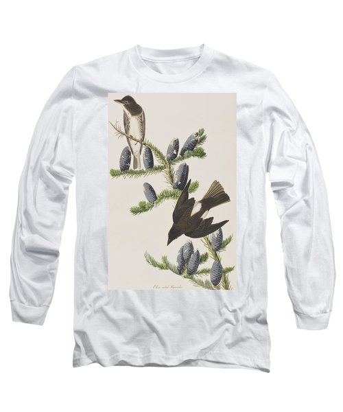 Olive Sided Flycatcher Long Sleeve T-Shirt by John James Audubon