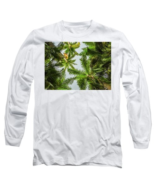 Palm Trees And Blue Sky Long Sleeve T-Shirt