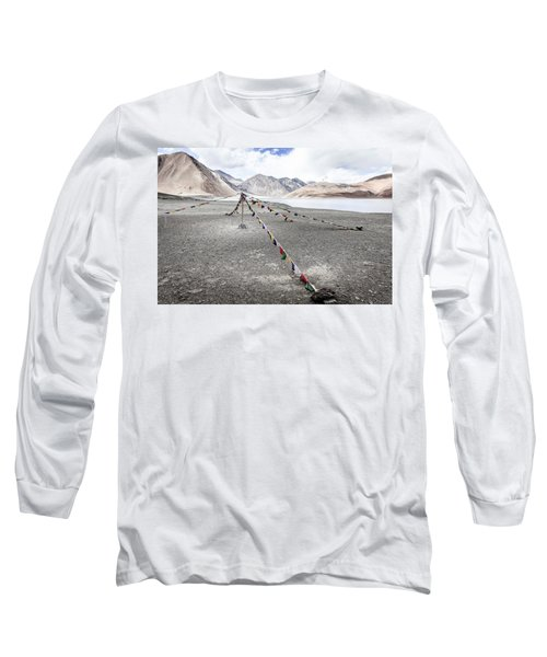 Long Sleeve T-Shirt featuring the photograph Pangong Tso Lkae by Alexey Stiop