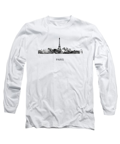 Paris France Skyline Long Sleeve T-Shirt by Marlene Watson