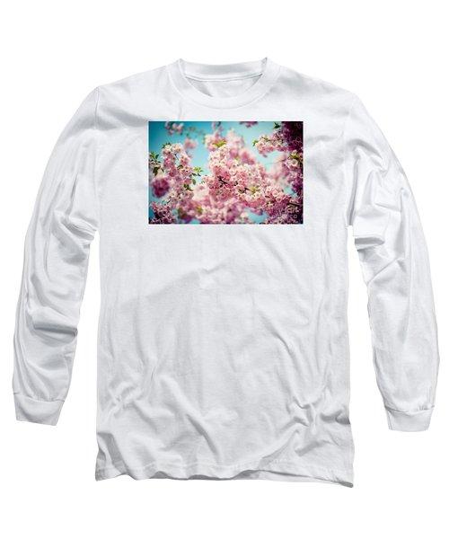 Pink Cherry Blossoms Sakura Long Sleeve T-Shirt