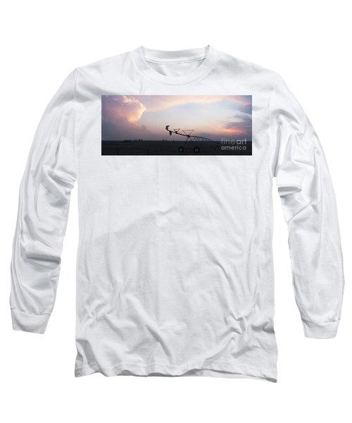 Pivot Irrigation And Sunset Long Sleeve T-Shirt
