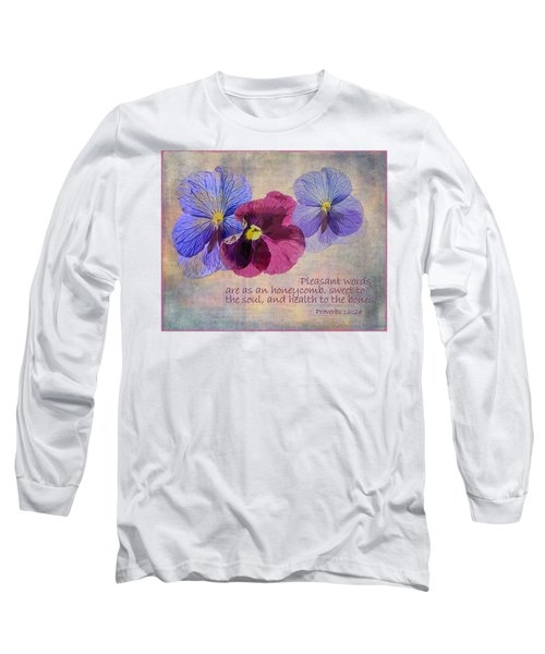 Pleasant Words Long Sleeve T-Shirt by Larry Bishop