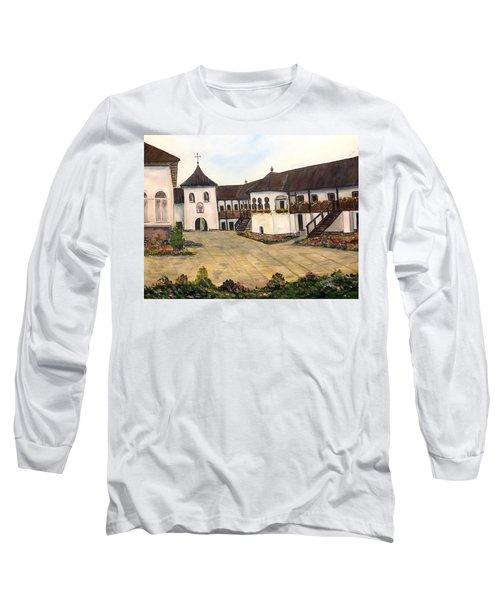 Polovragi Monastery - Romania Long Sleeve T-Shirt by Dorothy Maier