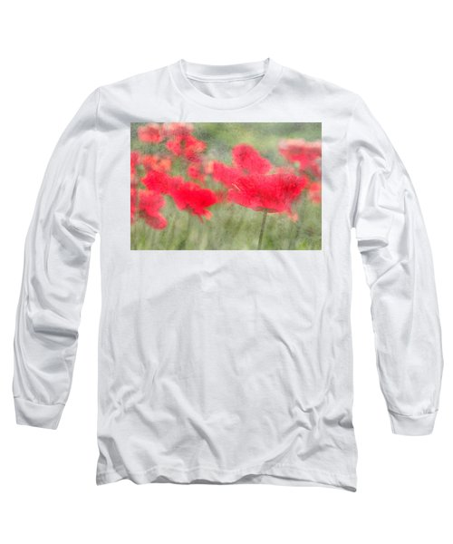 Poppies Long Sleeve T-Shirt by Catherine Alfidi