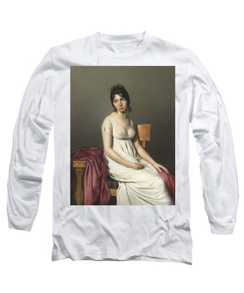 Portrait Of A Young Woman In White Long Sleeve T-Shirt