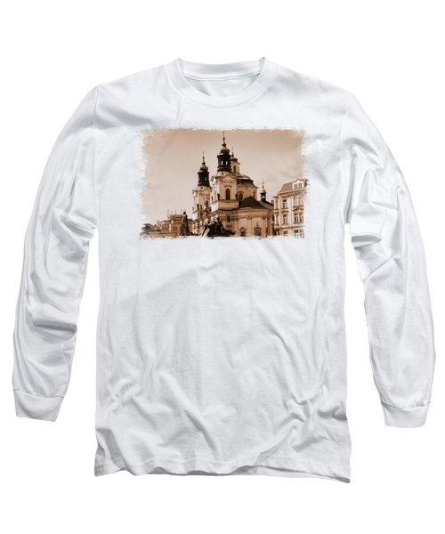 Old Memories Of Prague Long Sleeve T-Shirt