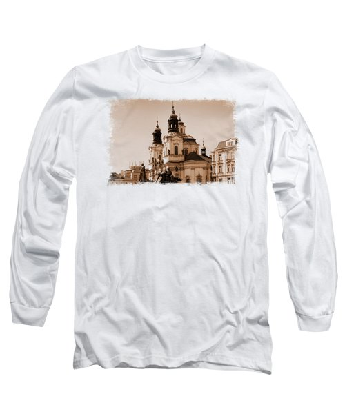 Old Memories Of Prague Long Sleeve T-Shirt