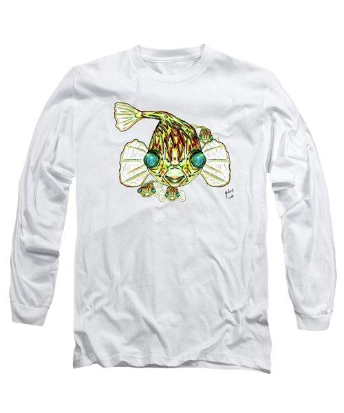 Puffer Fish Long Sleeve T-Shirt by W Gilroy