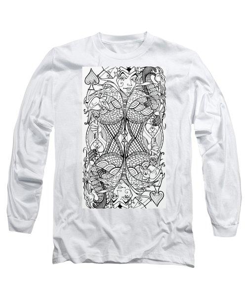 Queen Of Spades 2 Long Sleeve T-Shirt