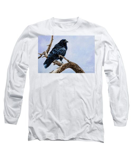 Long Sleeve T-Shirt featuring the painting Raven by Igor Postash