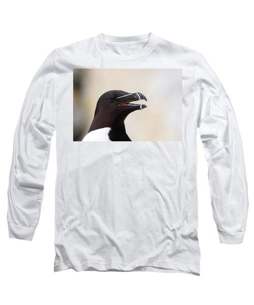Razorbill Portrait Long Sleeve T-Shirt by Bruce J Robinson