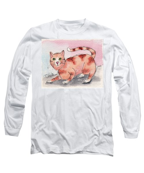 Long Sleeve T-Shirt featuring the painting Ready To Play by Terry Taylor