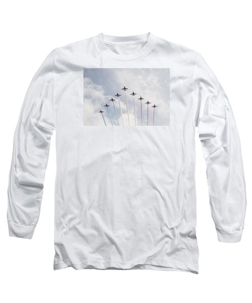 Long Sleeve T-Shirt featuring the photograph Red Arrows by Christopher Rowlands