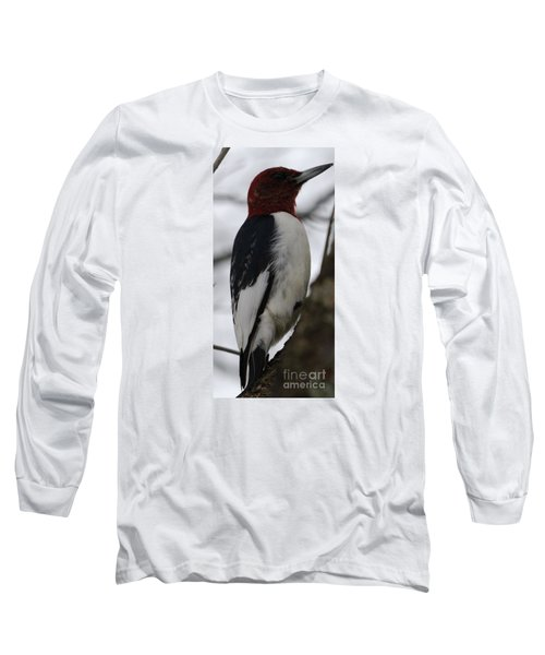 Long Sleeve T-Shirt featuring the photograph Red-headed Woodpecker by Randy Bodkins