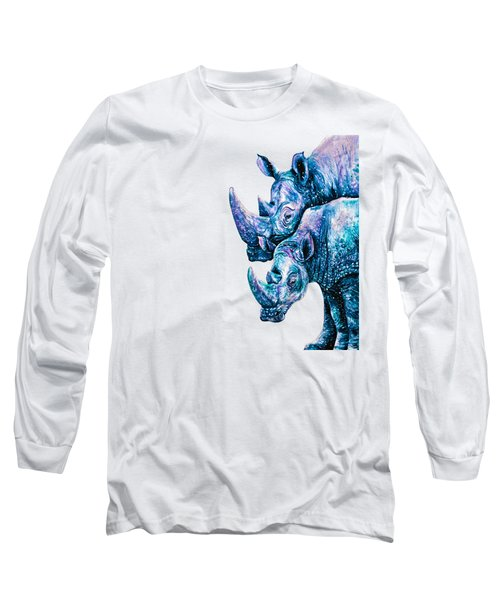 Rhinoceros Couple Long Sleeve T-Shirt