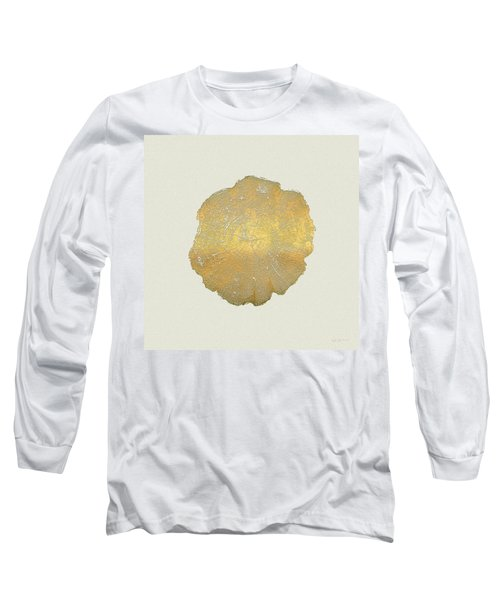 Rings Of A Tree Trunk Cross-section In Gold On Linen  Long Sleeve T-Shirt