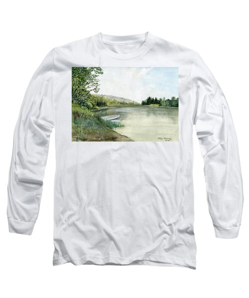 Long Sleeve T-Shirt featuring the painting River Light by Melly Terpening