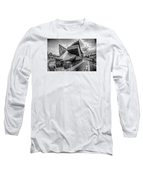 Roanoke Virginia City Skyline In The Mountain Valley Of Appalach Long Sleeve T-Shirt by Alex Grichenko